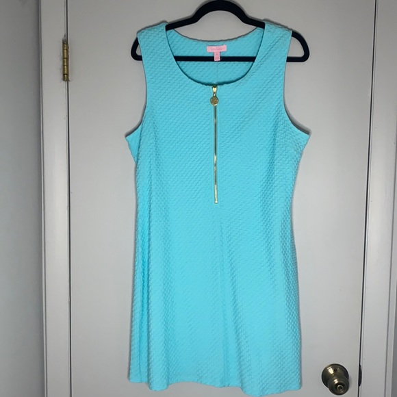 Lilly Pulitzer Lynd Shift dress in Shorely Blue XL